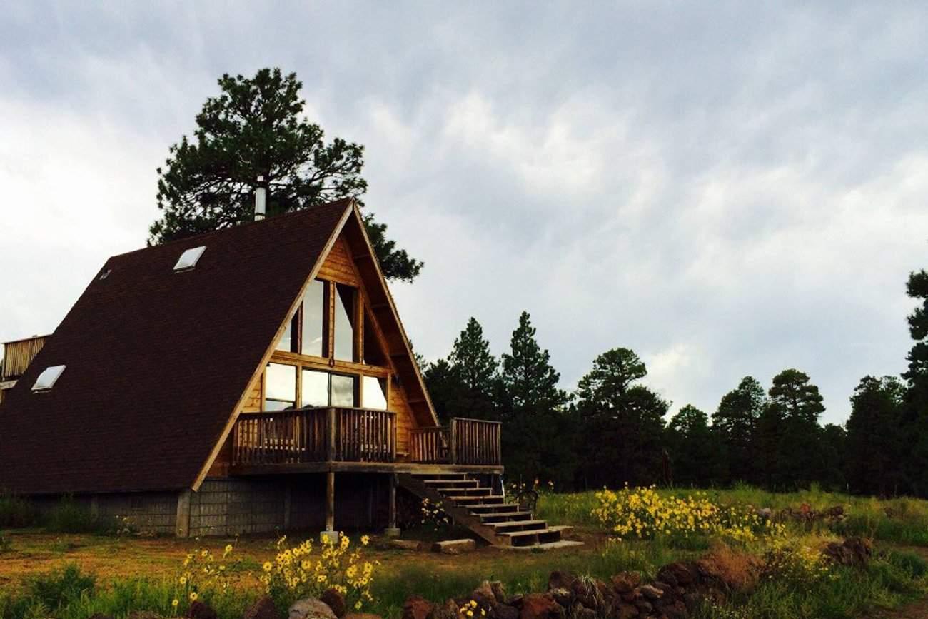 flagstaff a-frame cabin rental