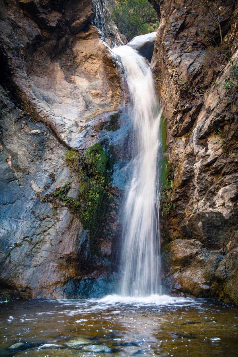Eaton Canyon Falls Waterfall, San Gaberial Mountains, Angeles National Forest