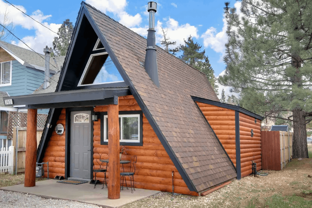 big bear lake aframe airbnb