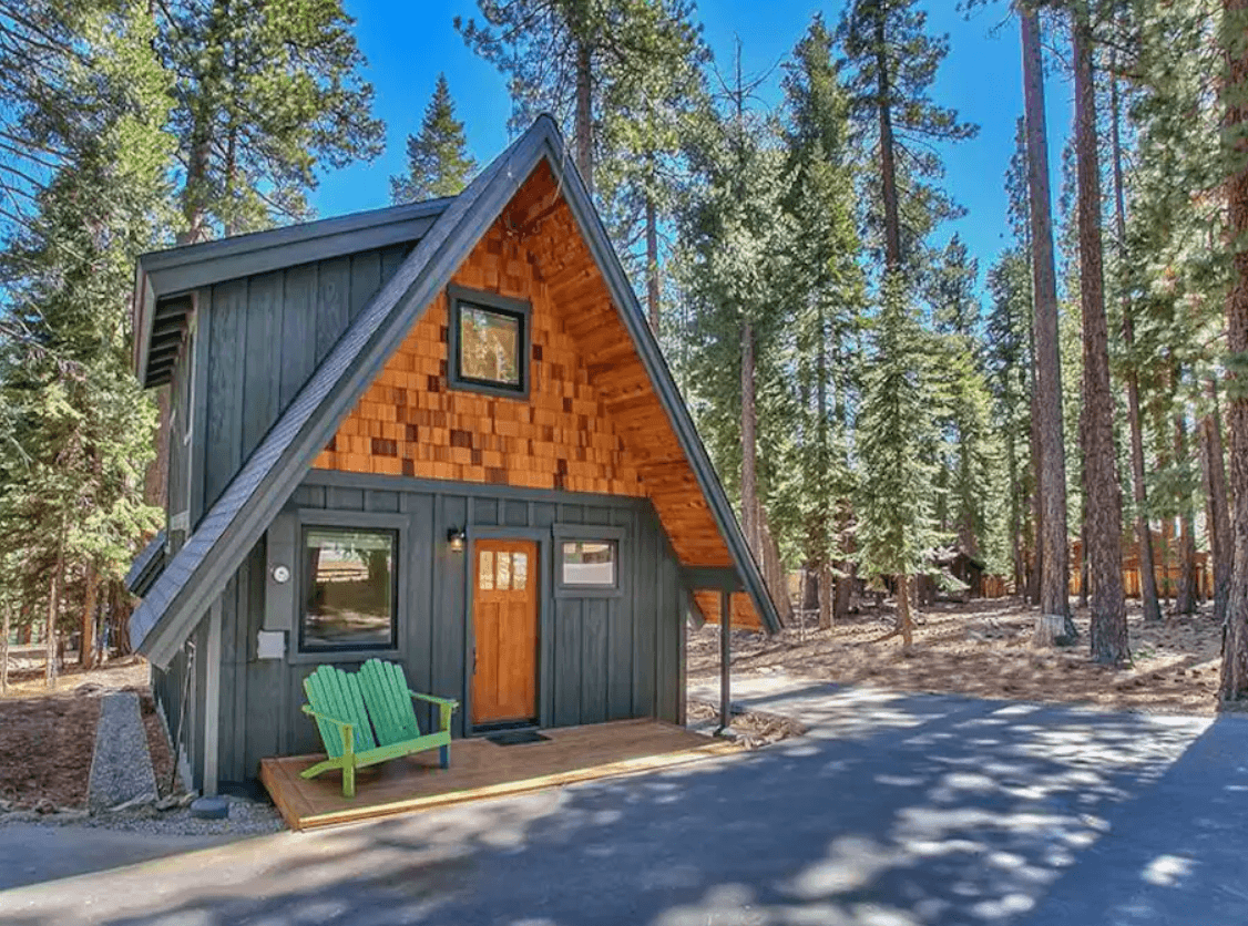 modern mountain a-frame tahoe