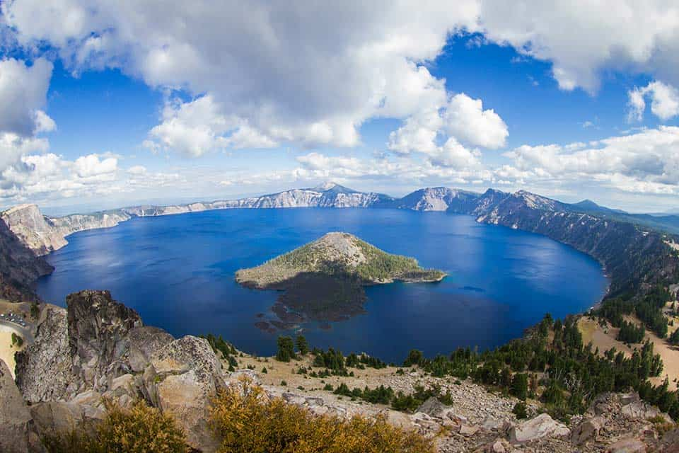 Watchman Peak Crater Lake