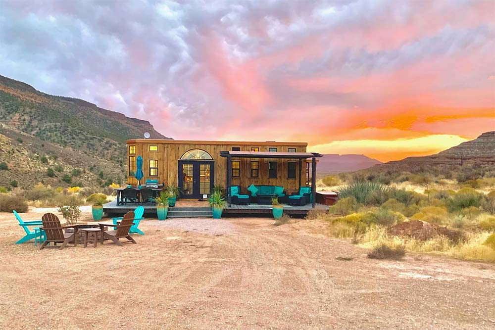 ark tiny home airbnb zion np