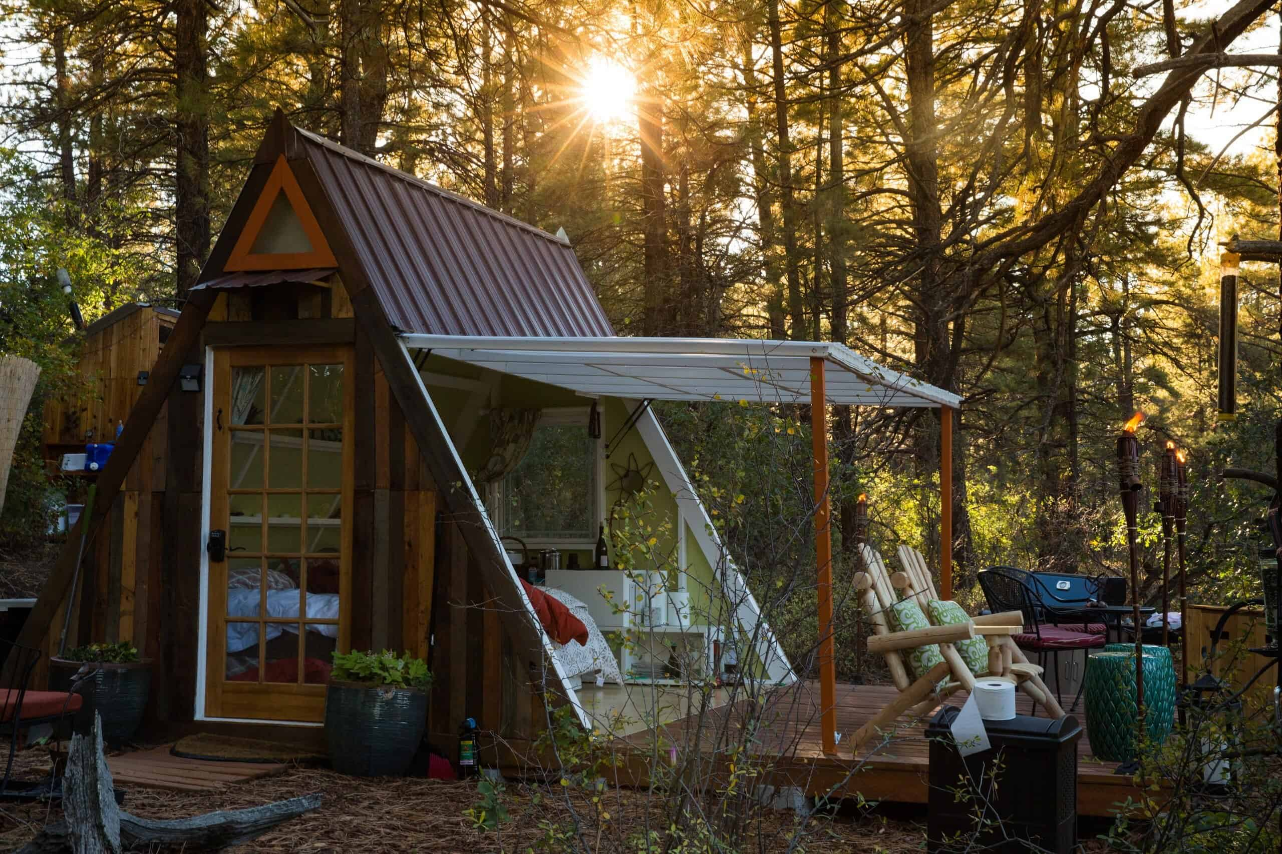 off the grid a-frame zion national park