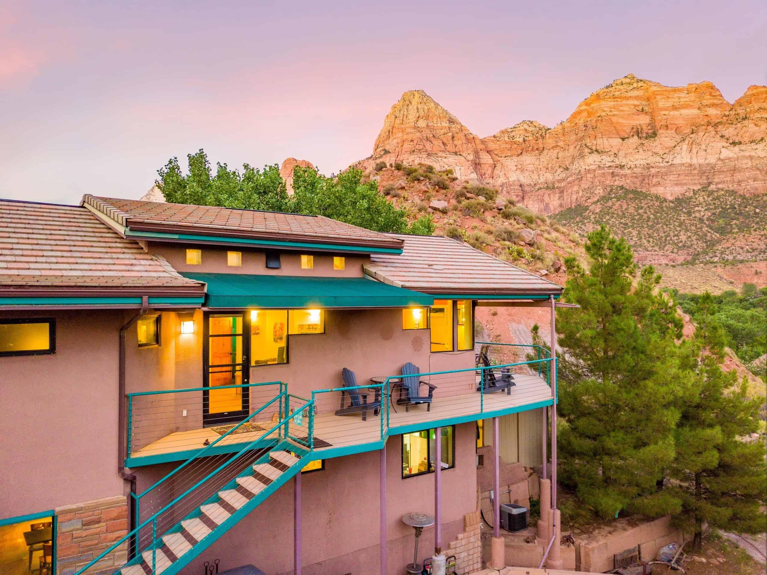 zion NP loft airbnb