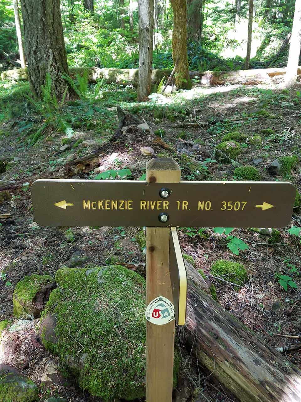 Blue Pool Trail McKenzie River Sign