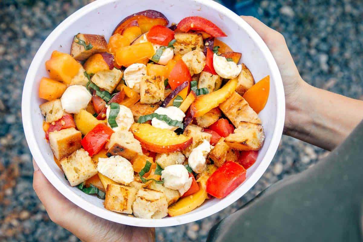 Peach Panzanella Camping Recipe