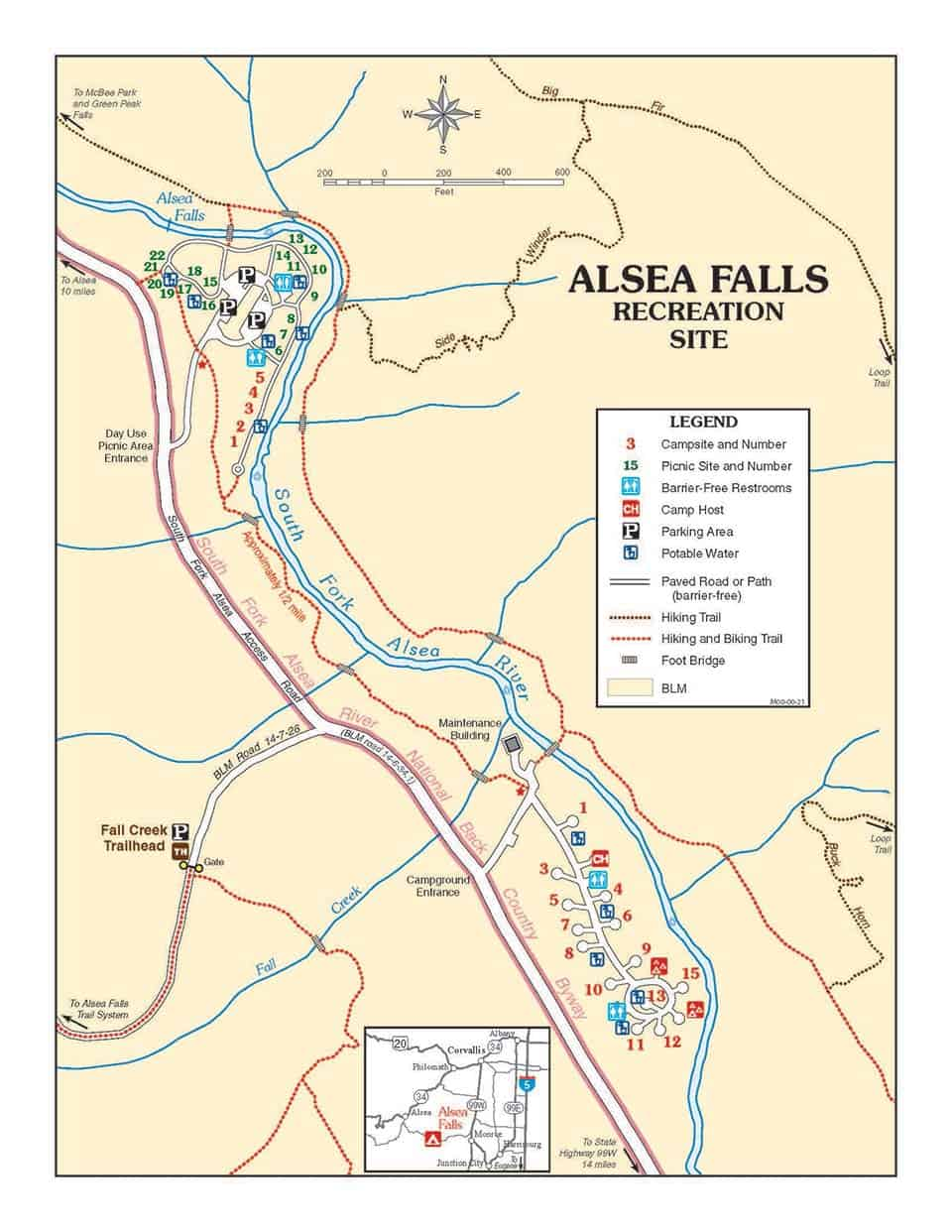 alsea falls trail map