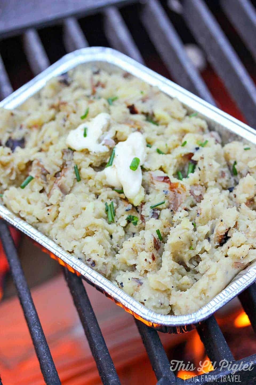 campfire garlic mashed potatoes
