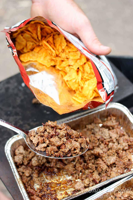campfire taco in bag