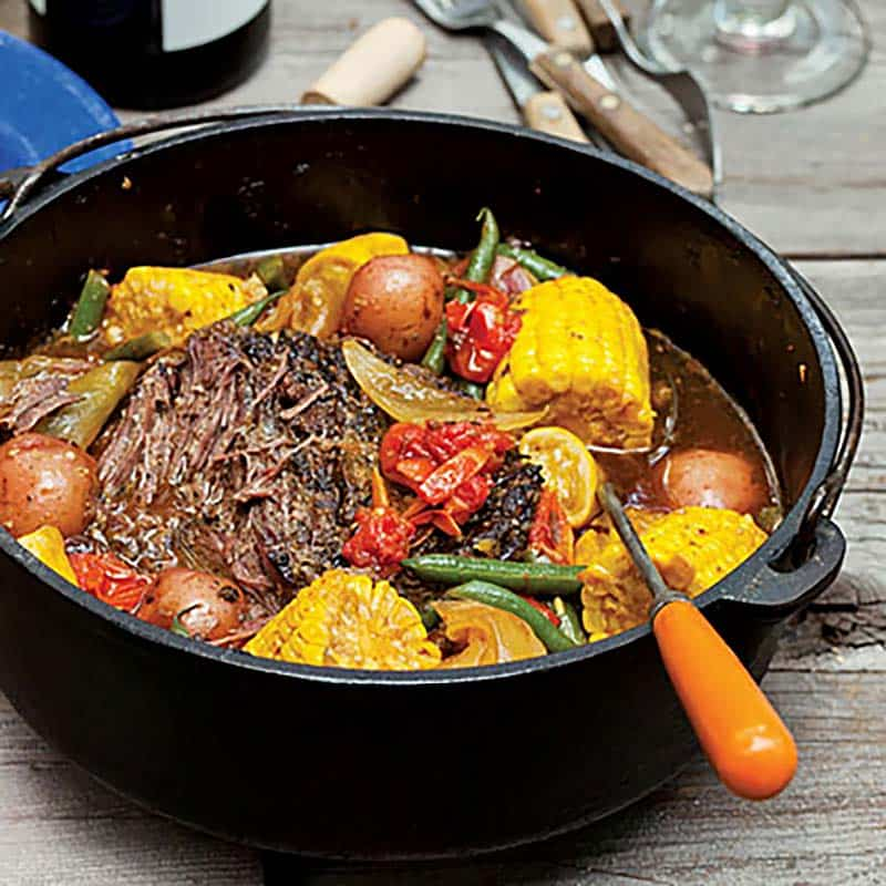dutch oven braised beef veggies
