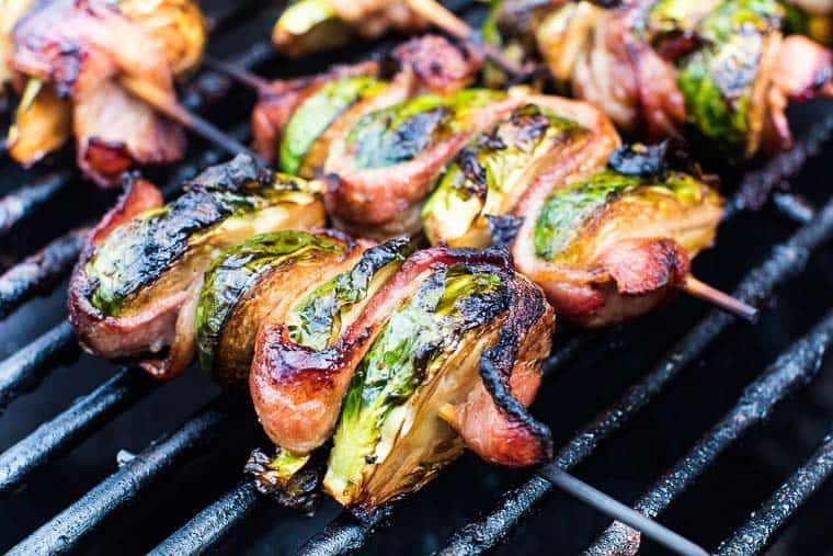 grilled bacon brussel sprouts