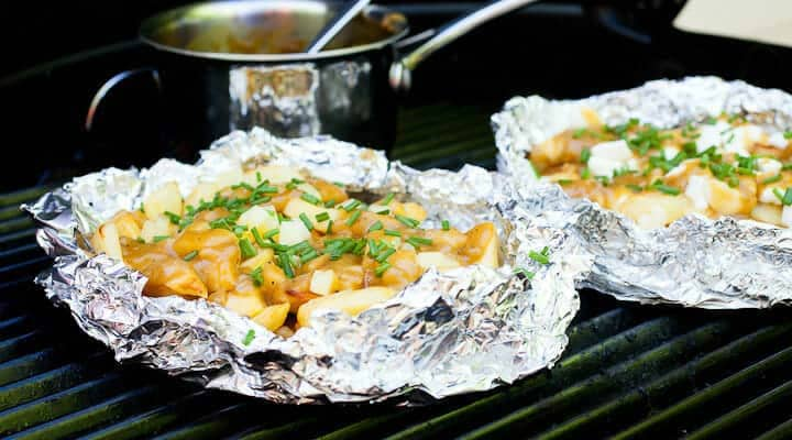grilled poutine for camping