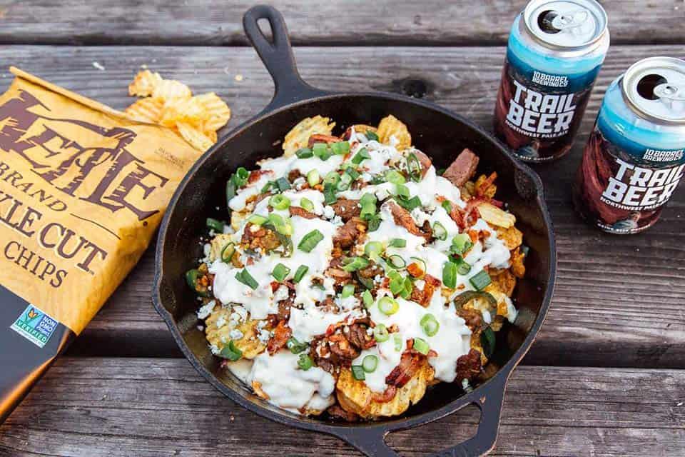 steak nachos camping food