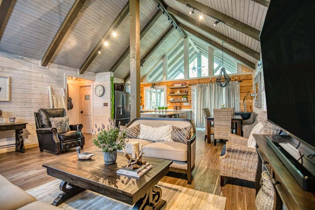 This cabin is one of the best Nashville Cabin rentals if you love interior design