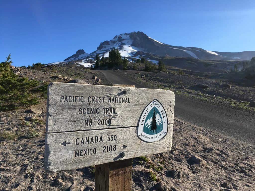 Mount Hood PCT Timberline Sign