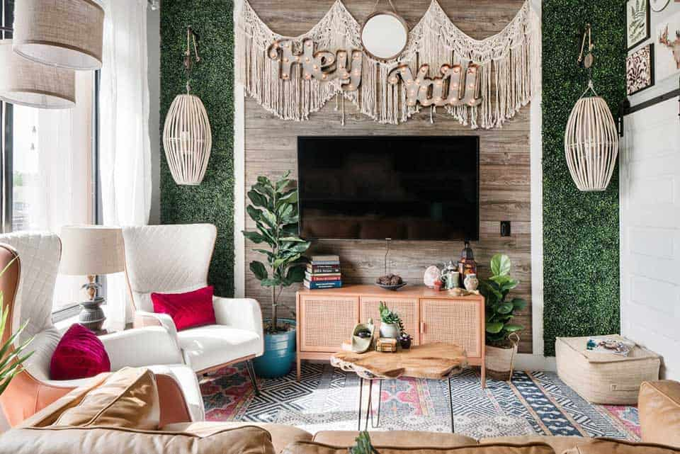 The bohemian vibes make this stylish apartment one of the best Nashville Airbnbs