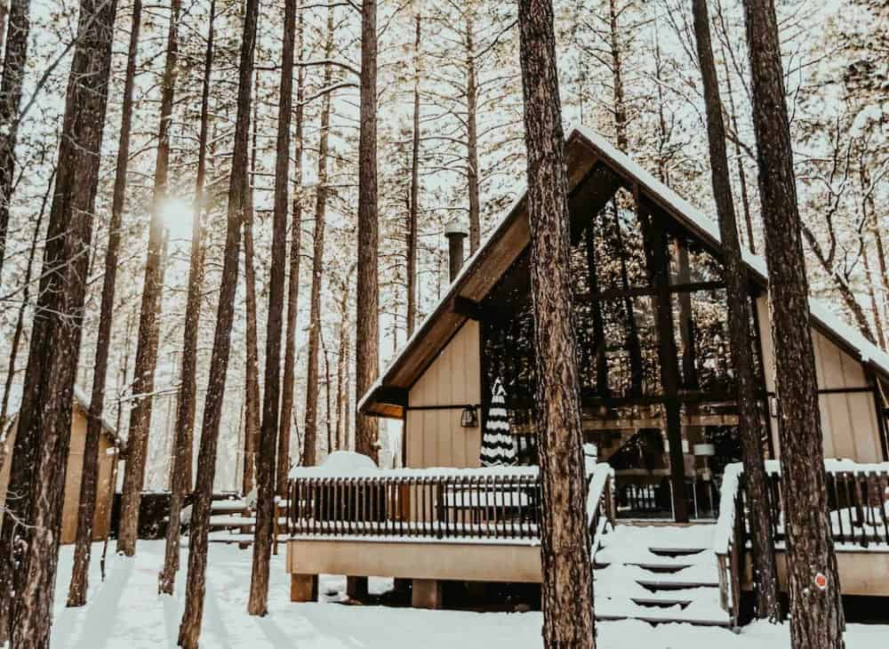 modern a-frame cabin rental