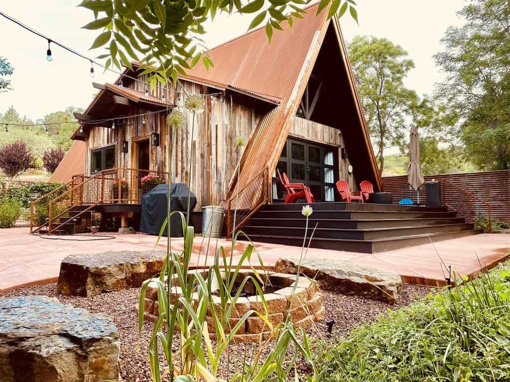 private creekside cabin rental