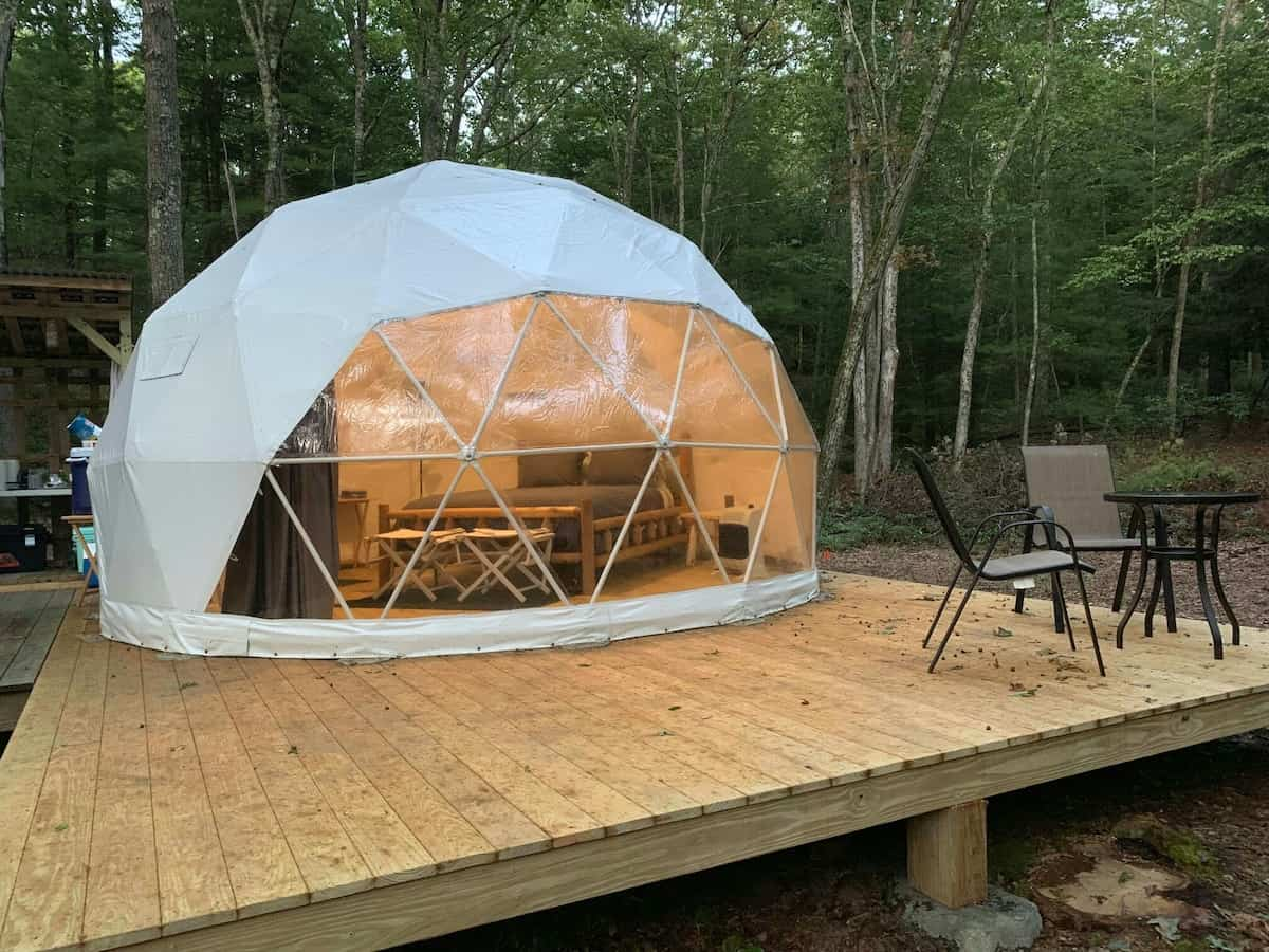 this geodesic dome is one of the best Airbnb rentals in new york
