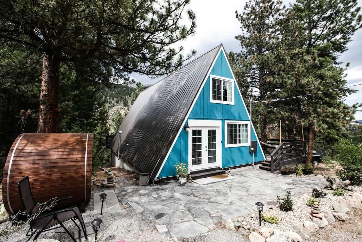 colorado a-frame cabin remote