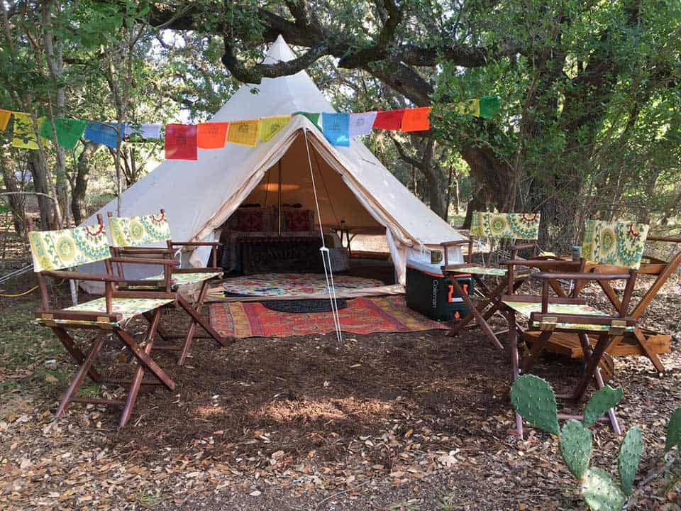 glamping tent airbnb san antonio