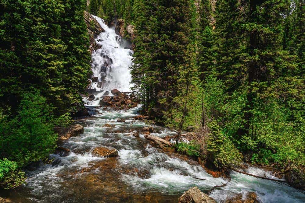 hiddens falls grand teton