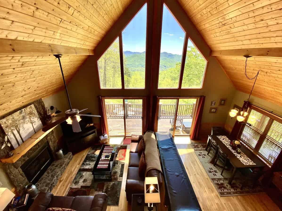 romantic cabin rental near cherokee