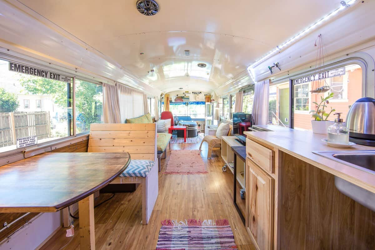 Lady Bluebird Converted Bus airbnb