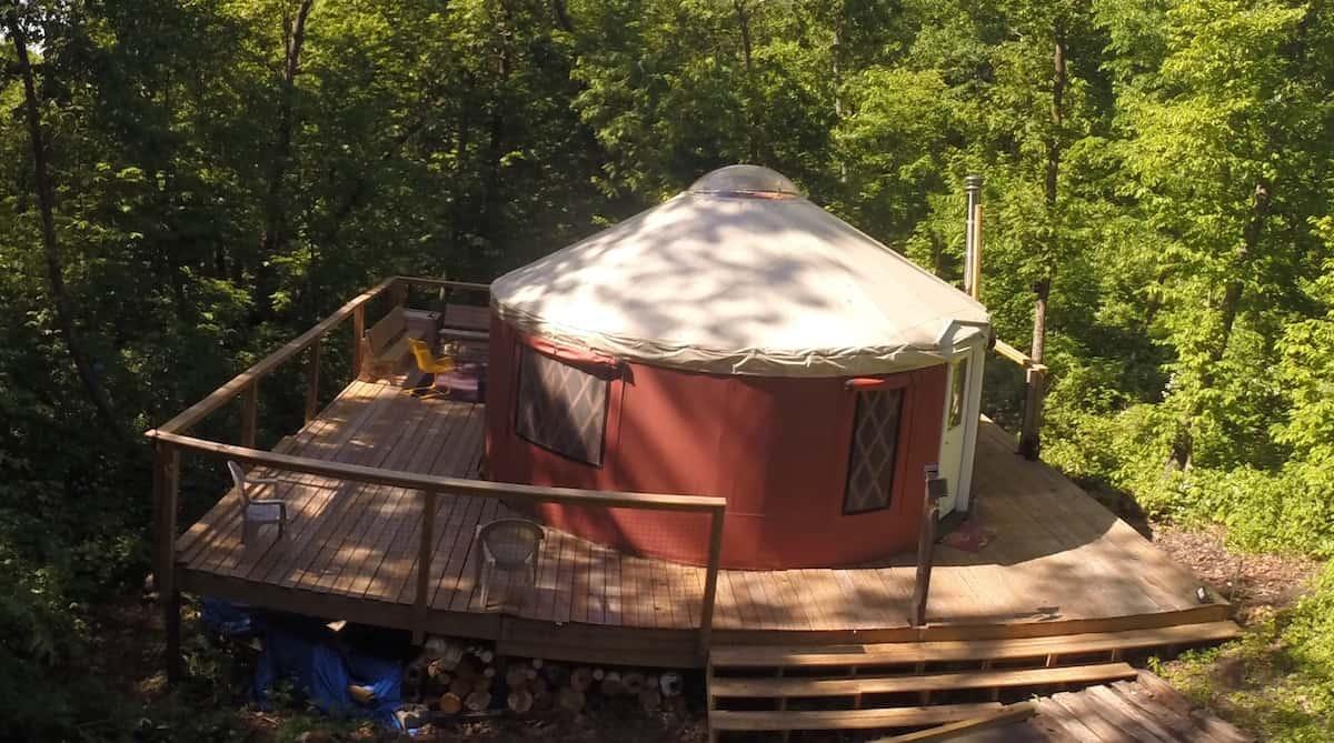 The Driftless Yurt wisconsin