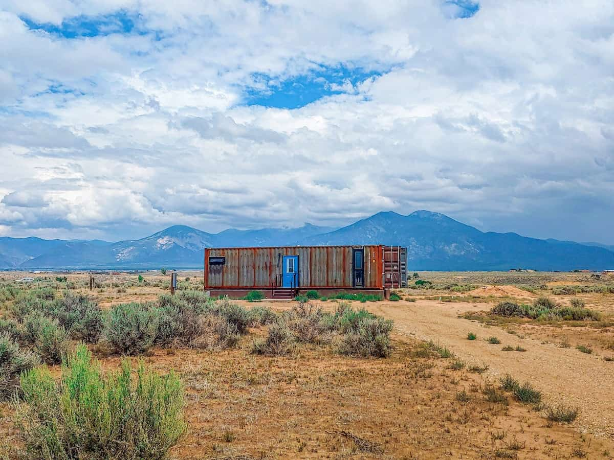 The Steel Pueblo new mexico airbnb tiny house