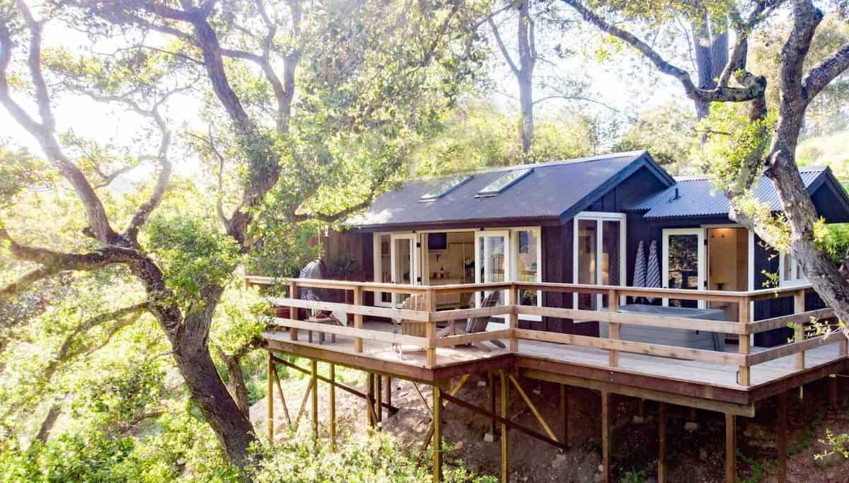 Wine Country Treehouse airbnb