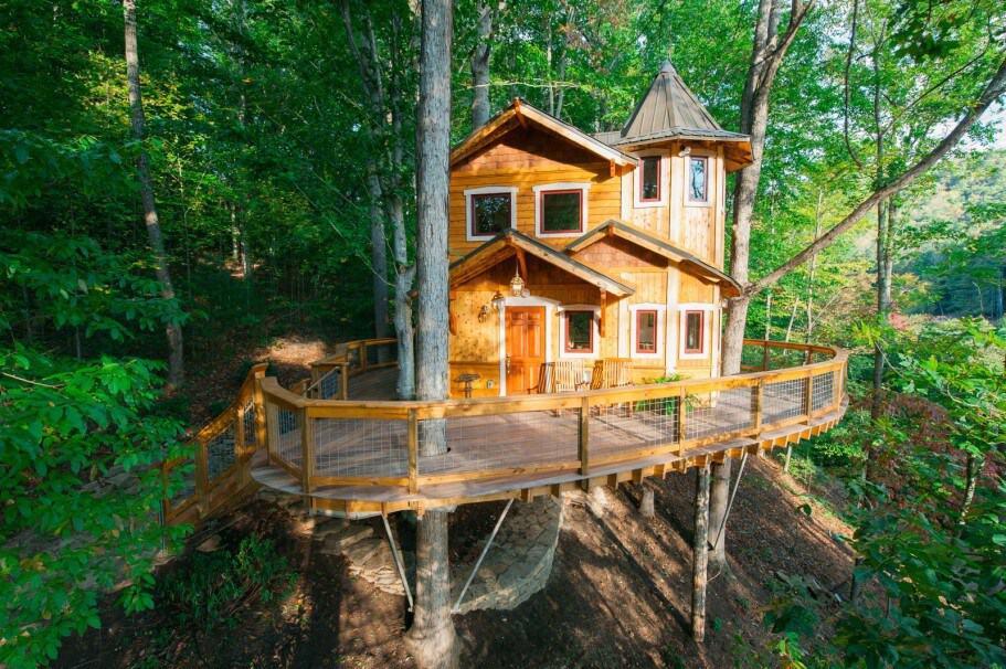 asheville nc treehouse