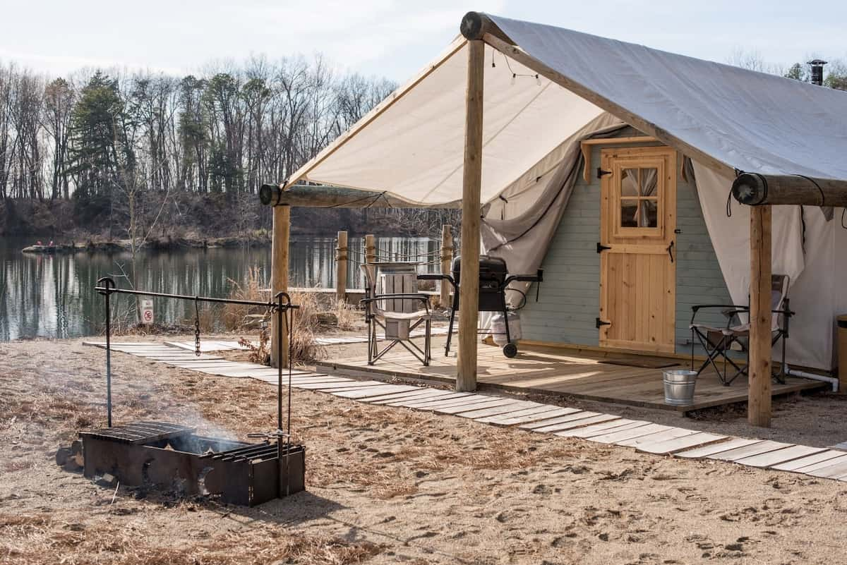 canvas tent airbnb