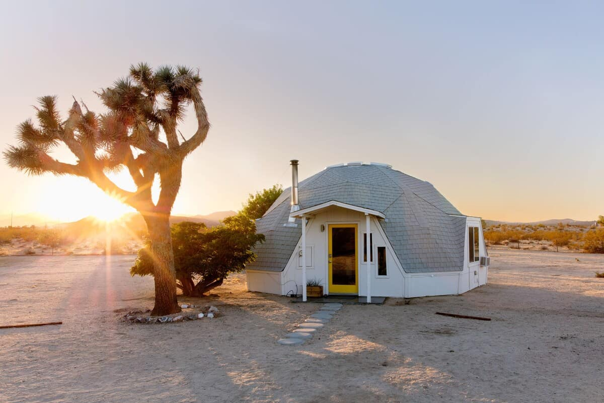 dome in the desert joshua tree airbnb