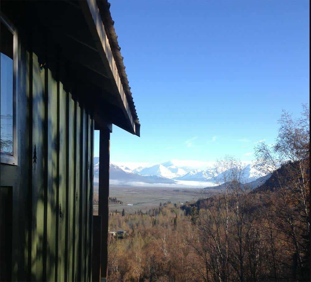 knik valley secluded cabin rental