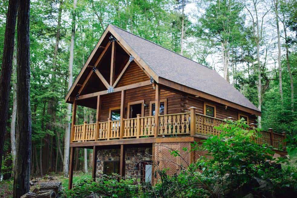 log cabin rental pennsylvania