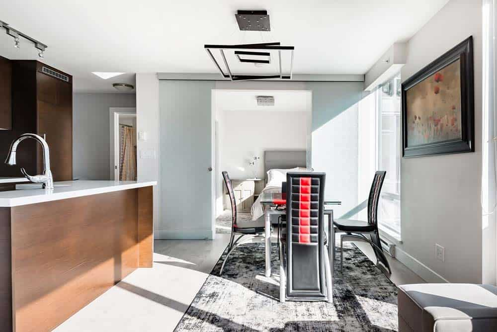modern down apartment airbnb vancouver