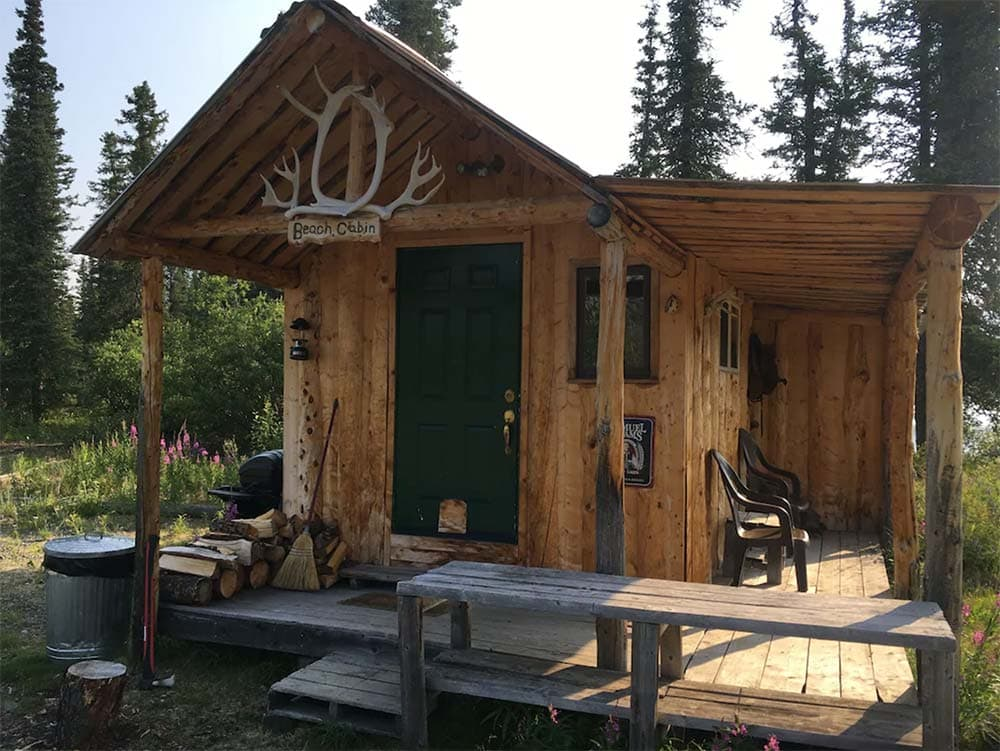 secluded beach cabin alaska