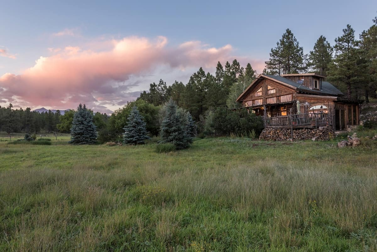 secluded cabin flagstaff arizona