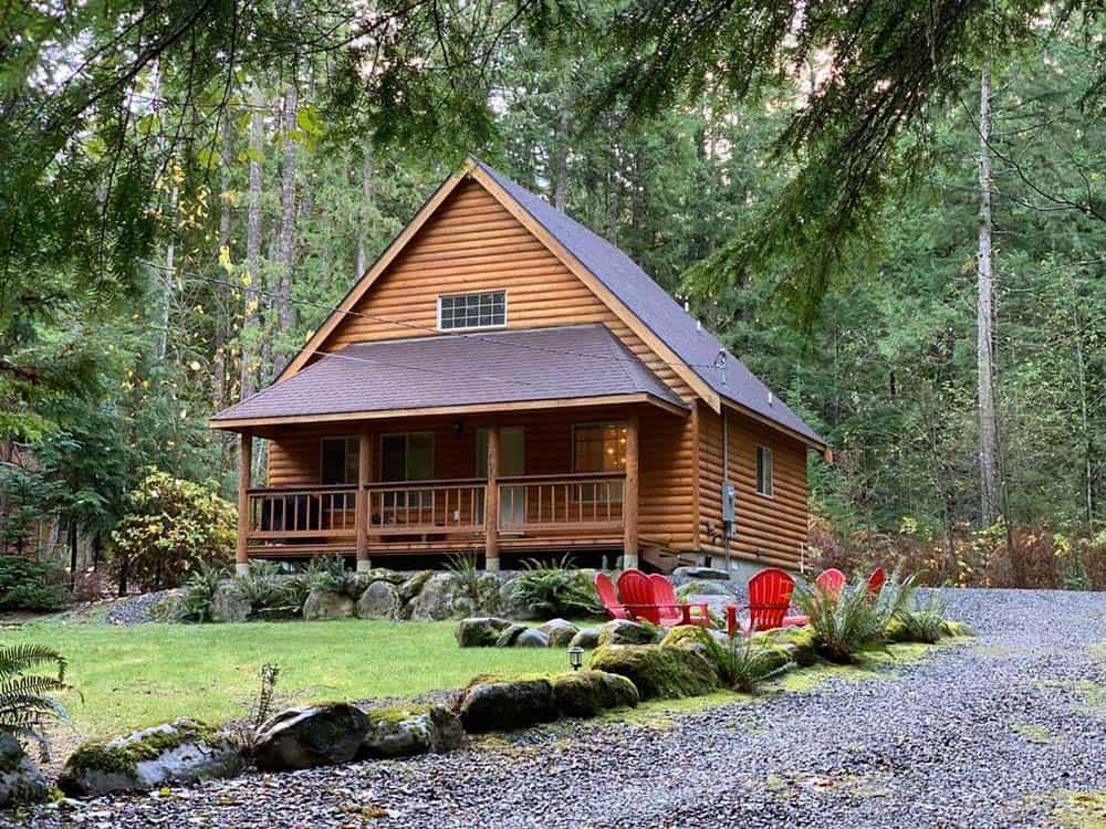 secluded cabin rental mt baker