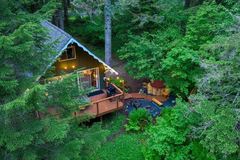 secluded cabin rental mt rainier