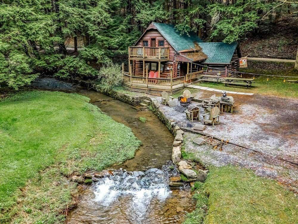 streamside cabin rental pennsylvania