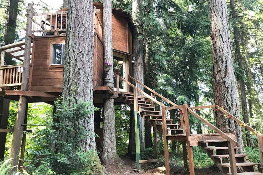 treehouse cabin rental washington