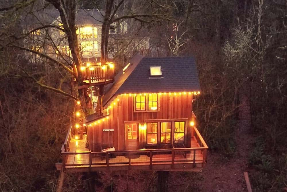 treehouse rental emerald forest washington