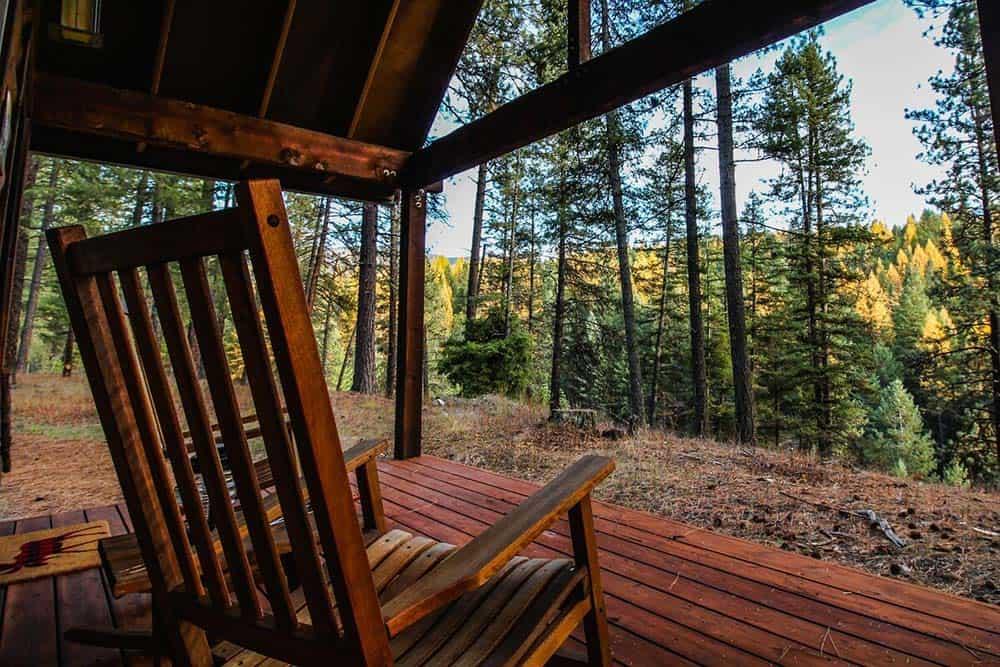 washington cabin secluded woods