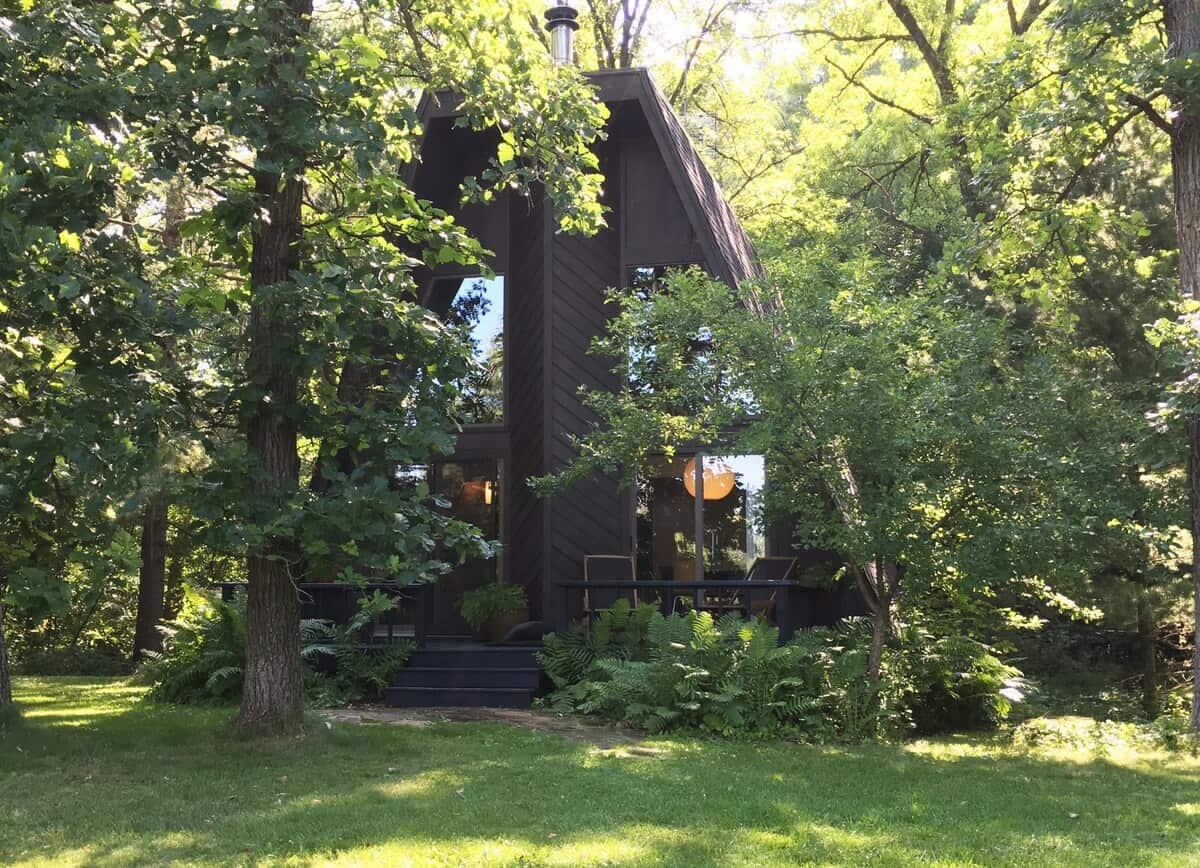 wisconsin a-frame airbnb rental