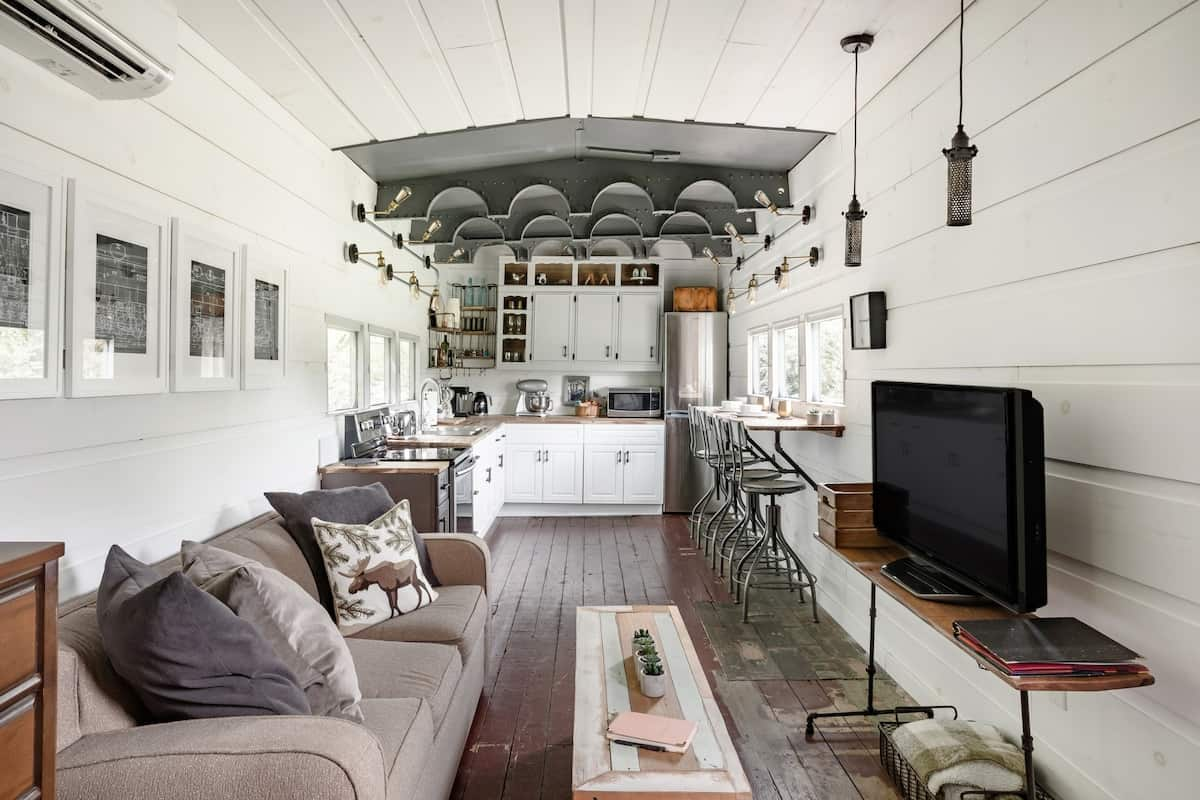 converted train car tennessee