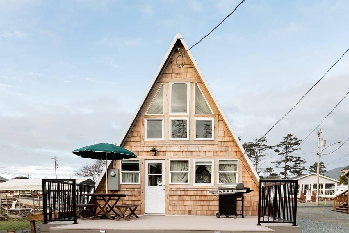 Rockaway Beach A-Frame cabin