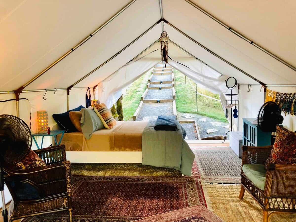 banks oregon glamping tent