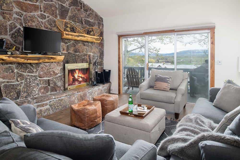 fireplace airbnb jackson wy